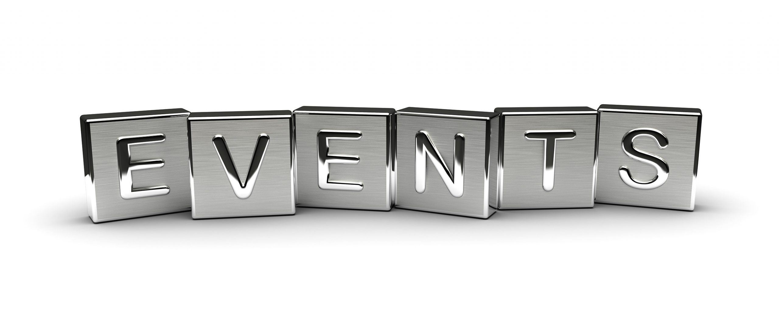 Metal Events Text (isolated on white background)